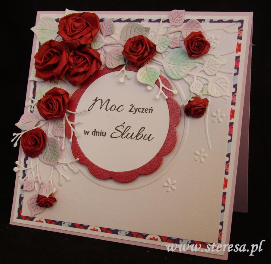 Kartka ślubna Rękodzieło W Wejherowie Redzie Rumi Sklep Z